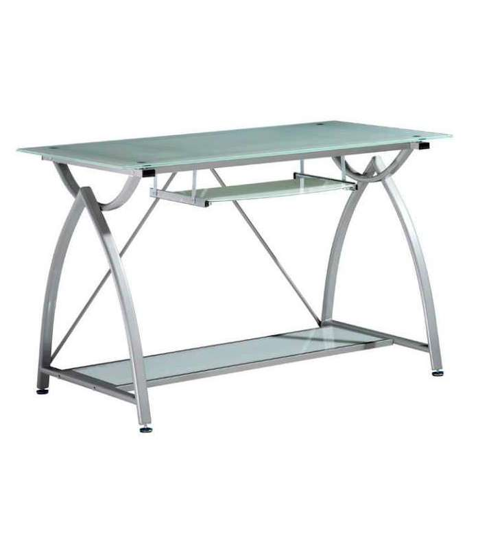 Computer Table Izan Metal And Glass