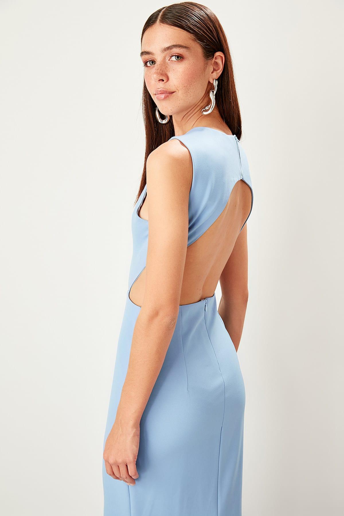 Trendyol Collar Detail Evening Dress Dress TPRSS19FZ0396