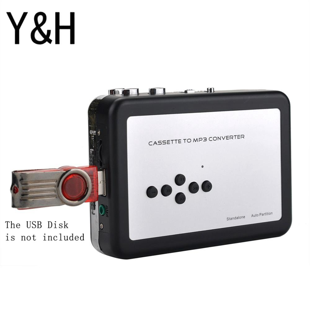 Y&H Cassette Tape Player Record Tape To MP3 Digital Converter,USB Cassette Capture,Save To USB Flash Drive Directly