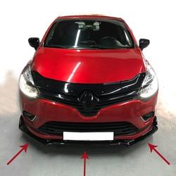 Für Renault Clio 4 Zubehör Renault Clio 4 Frontschürze Befestigung Klavier Schwarz 3 stücke 2012 2013 2014 2015 2016 2017 2018