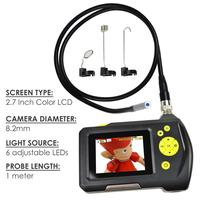 3 Meter Cable Digital Waterproof Handheld Endoscope 2.7 inch Screen Monitor 8.2mm Digital Inspection Camera System