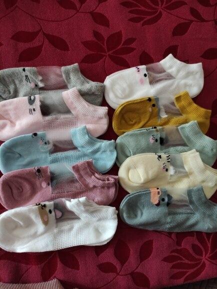 5 Pairs/lot 0 to 7 Years Spring Summer Thin Mesh Socks For Girls Boys Cute Animal Children's Thin Sock Baby Newborn Short Socks photo review