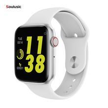 Умные часы Soulusic IWO 8 lite с Bluetooth и функцией вызова ЭКГ, монитор сердечного ритма W34, умные часы для Android iPhone xiaomi PK iwo 8 10