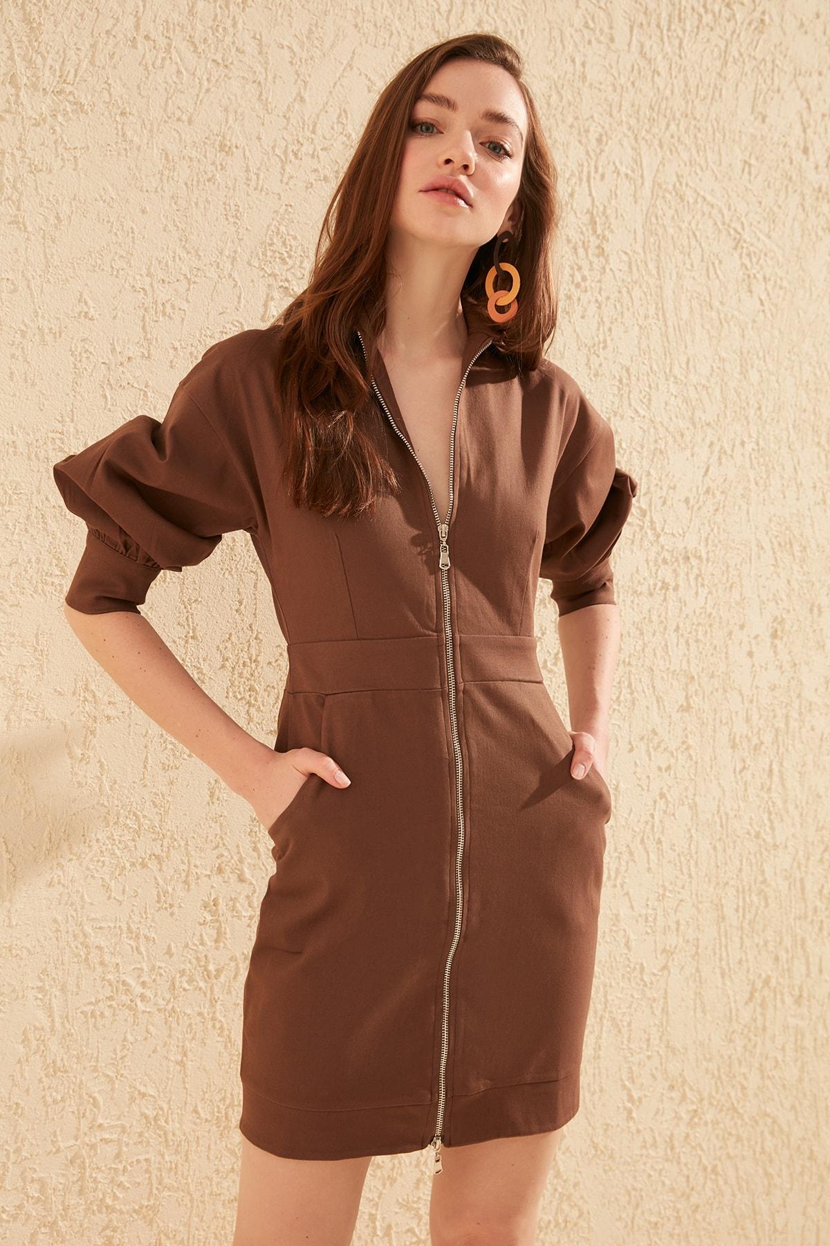 Trendyol Zipper Dress TWOSS20EL0618
