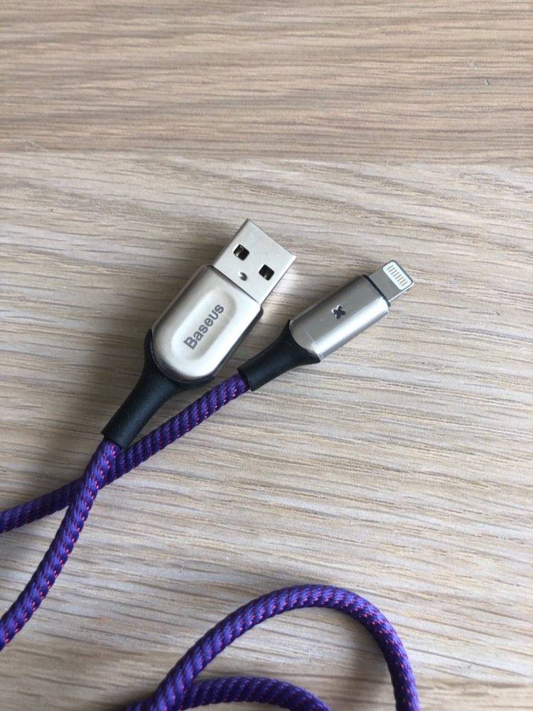 Baseus USB Cable for iPhone XR XS Max 2.4A Fast Charging USB Charger Cable LED Light USB Data Cable for iPhone 8Plus 7 Data Cord-in Mobile Phone Cables from Cellphones & Telecommunications on AliExpress - 11.11_Double 11_Singles' Day