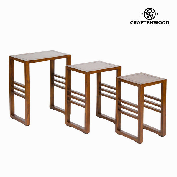 F-220 Nest Of Tables Set Of 3 - Serious Line Collection By Craftenwood
