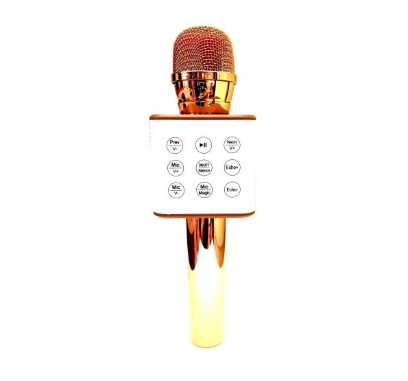 Wireless Bluetooth Karaoke Microphone Q10 With Built-in Speaker