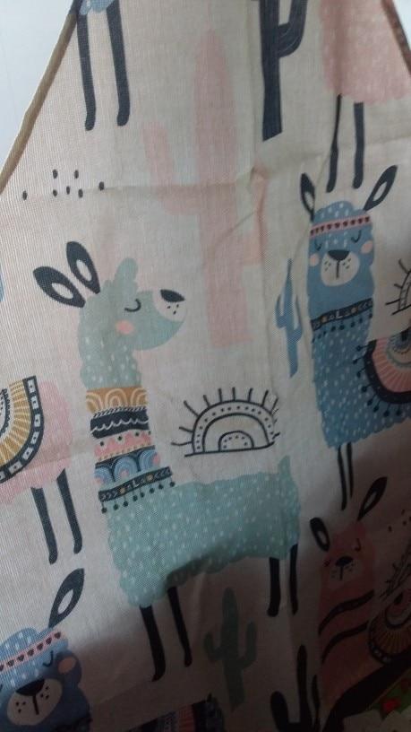 Alpaca Llama Cactus Printed Sleeveless Apron