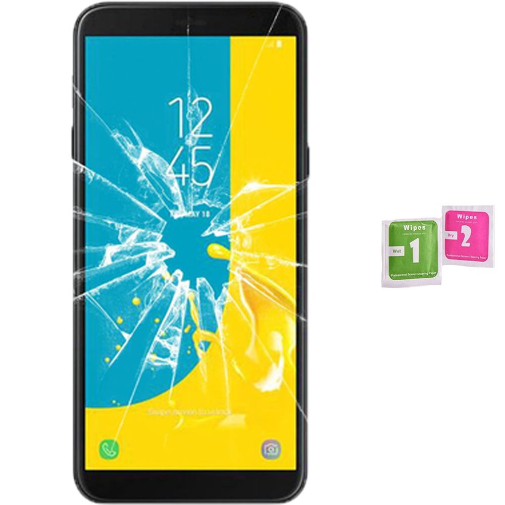 Screen Protector Tempered <font><b>Glass</b></font> Vidrio para for <font><b>SAMSUNG</b></font> <font><b>GALAXY</b></font> <font><b>J4</b></font> PLUS <font><b>2018</b></font> (Generico, not Full