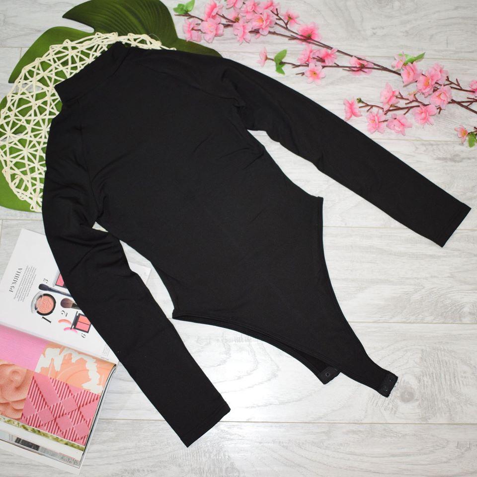 Evenworse Sexy Zipper Bodycon Jumpsuit 2020 Spring Fashion Long Sleeve Round Collar Slim Black Bodysuit Nightclub Club Christmas reviews №5 57200