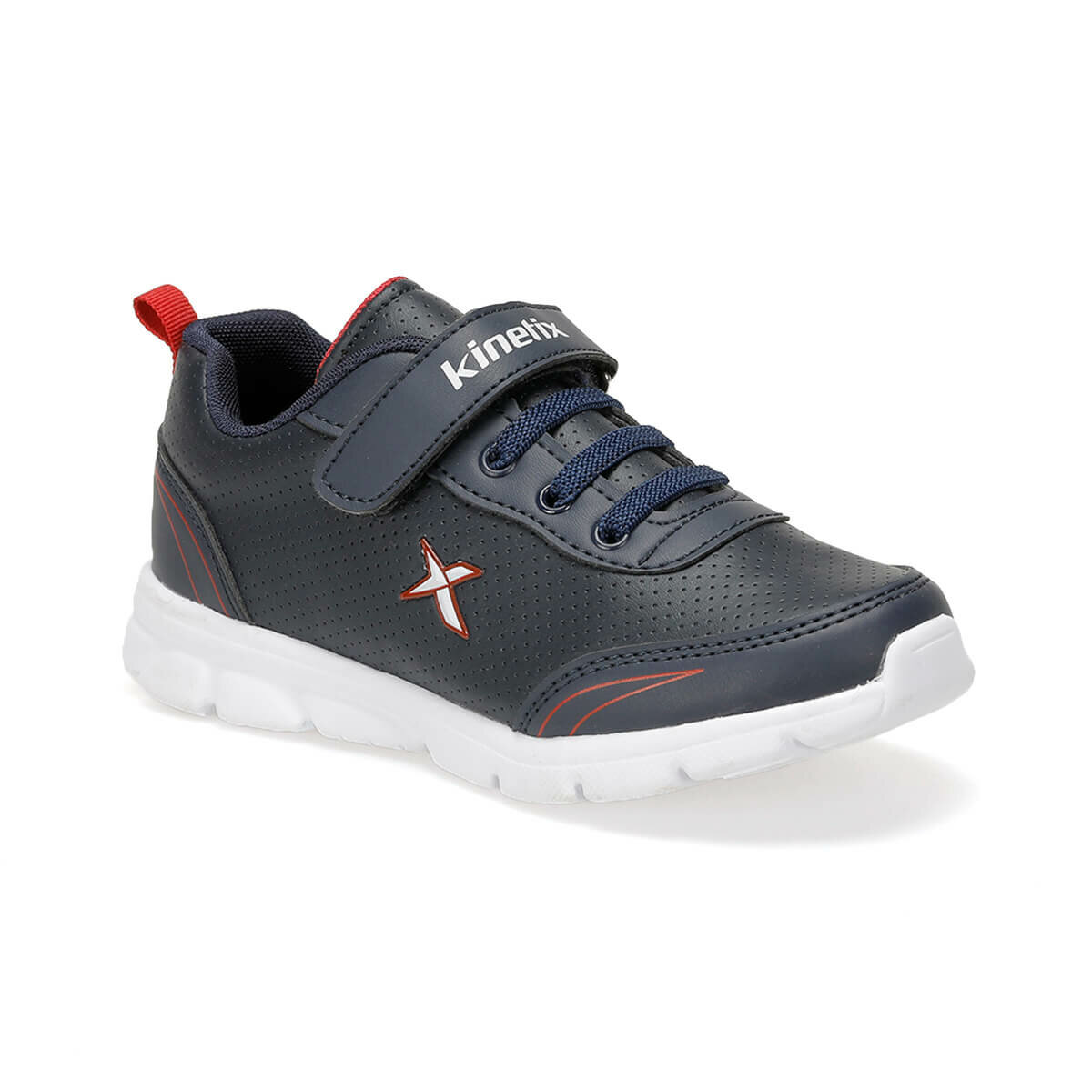 FLO YANNI PU 9PR Navy Blue Male Child Hiking Shoes KINETIX