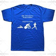 Забавная футболка для триатлона плавания езды на велосипеде