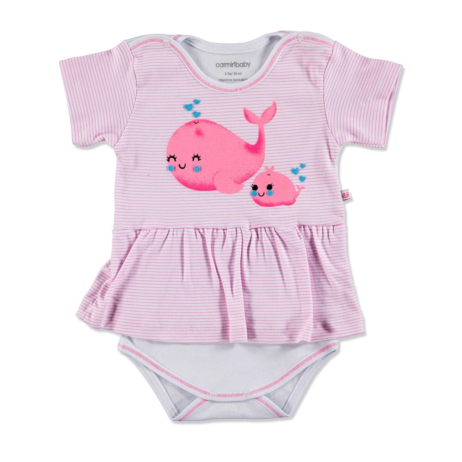 Ebebek Carmin Baby Summer Girl Cute Whale Dress Bodysuit