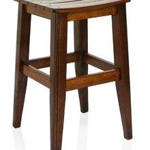 Türkay Wooden Stool Walnut 35 x 40 cm