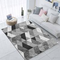 Else szary czarny biały Geometrics Nordec Scandinav 3d drukuj antypoślizgowa mikrofibra salon nowoczesny dywan zmywalny dywan do składania Mat w Dywany od Dom i ogród na