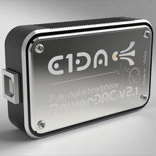 PowerDAC V2.1 E1DA Headphone Amp PEQ DSP BLE Đắc Với 2.5/3.5 Bộ Chuyển Đổi Và Cáp