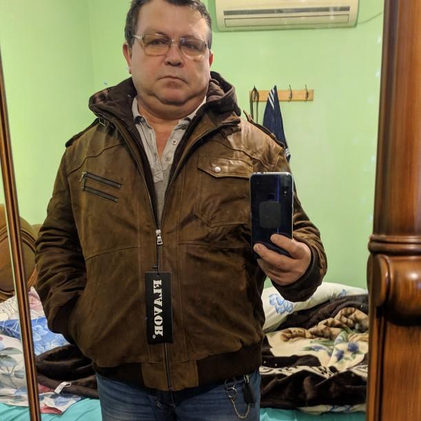 Veste en cuir véritable homme à capuche amovible