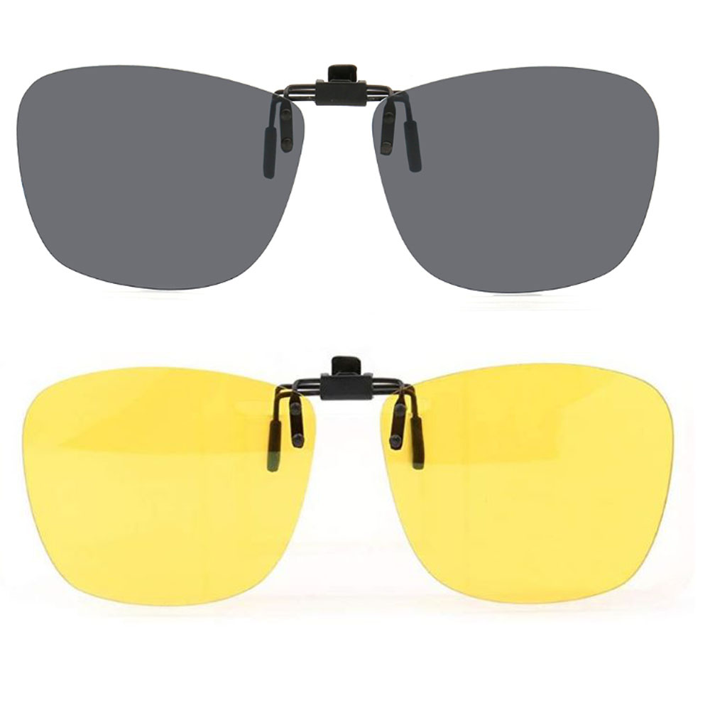 Polarized Fishing Flip Up Clip On Sunglasses Driving With Case