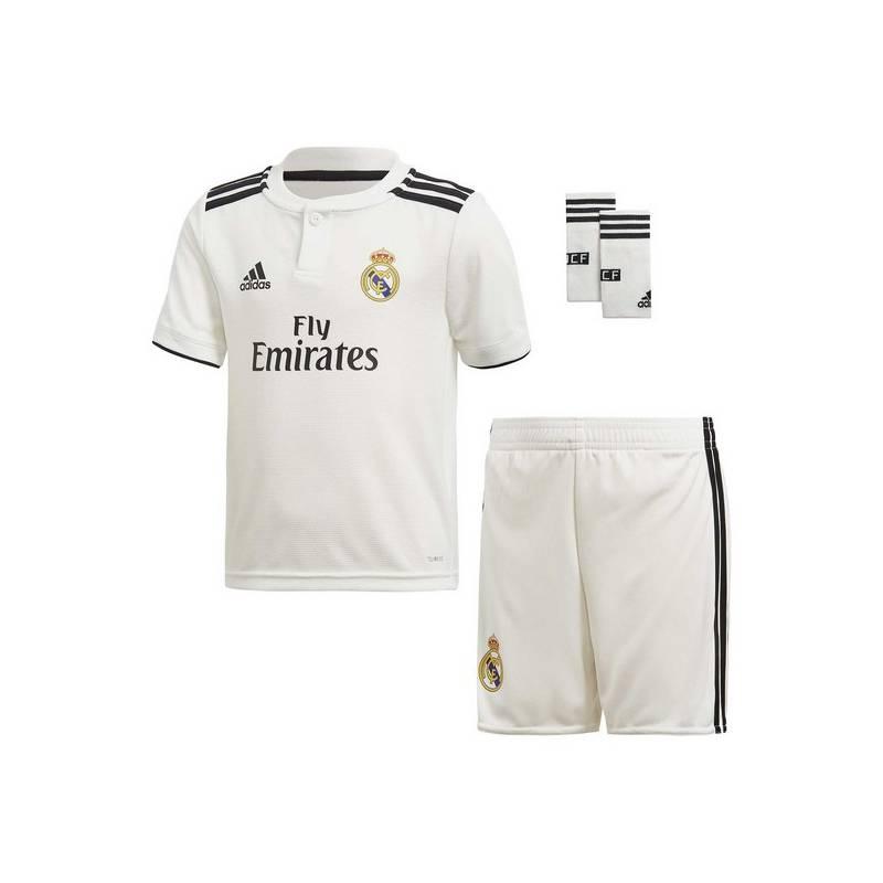 Set Football Kit For Children Adidas Real Madrid White 18/19 (1ª) (3 Pcs)
