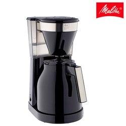 Kawiarnia Melitta EasyTop Therm II 1023-08  kawiarnia eléctrica de filtro  pequeña  8 tazas  negro y acero