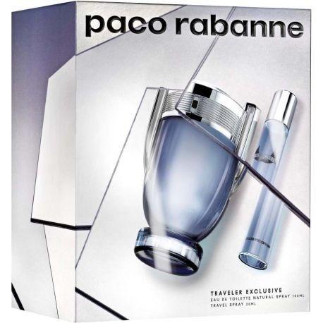 INVICTUS PACO RABANNE 100ML EDT + EDT 20ML SPRAY