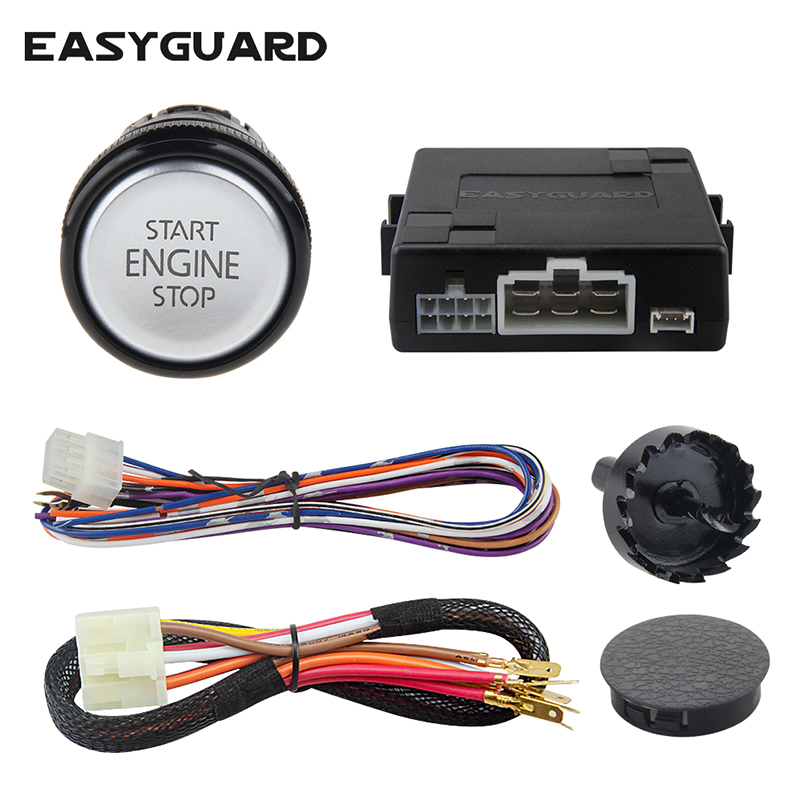 EASYGUARD Push Engine Start Module W Remote Start Stop For Automatic Transmission Car Optional Can Work With Car Alarm System