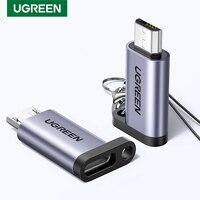Ugreen-Adaptador USB tipo C a Micro USB hembra a macho, convertidor para Xiaomi, Samsung, Cable de datos