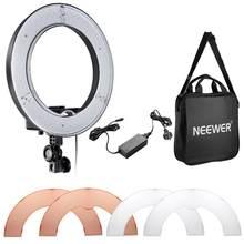 Neewer câmera foto/vídeo 14 polegadas 36w led smd anel luz 5500k regulável anel luz de vídeo e adaptador universal conjunto au plug