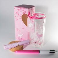 Gift, souvenir, home decoration letter bottle M beautiful commemorative thing in the pink box  band  fitness
