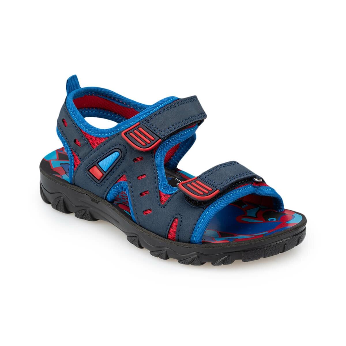 FLO 91. 510241.F Navy Blue Male Child Sandals Polaris