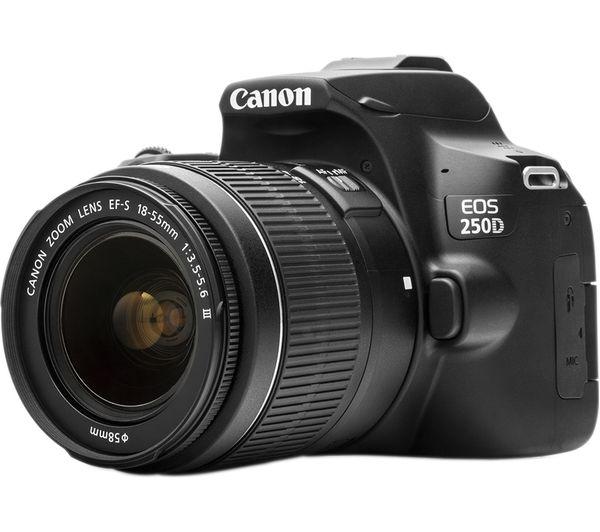 Canon 250D Rebel SL3 DSLR Camera Body & 18 55mm Lens Kit|DSLR Cameras| - AliExpress