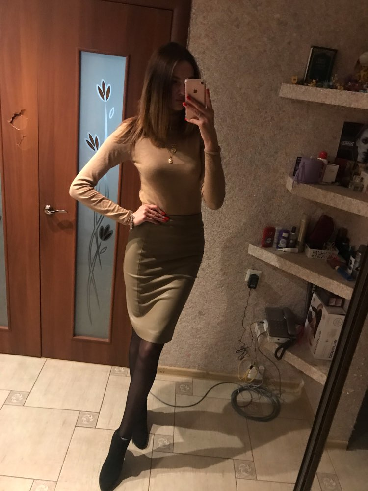 Women Sexy Soft Pu Leather Pencil Midi Skirt Autumn Ladies Package Hip Back Split Faux Leather Pencil Skirt Burgundy Coffee photo review