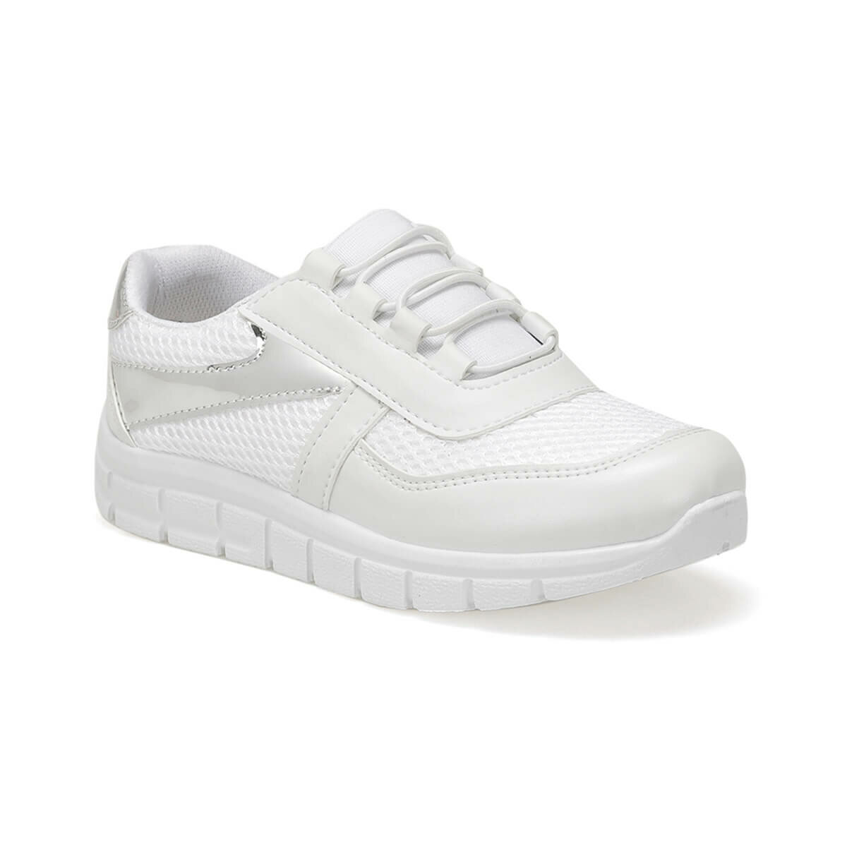 FLO SILVIA White Female Child Sneaker Shoes I-Cool