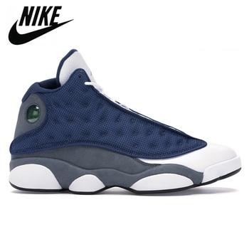 Authentic Nike Air Jordan Retro 13 Women Aurora Green Blue Flint Refletive Black Cat Basketball Shoes Sports Sneakers Trainers