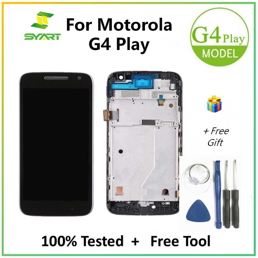 For Motorola G4 Play LCD Display + Touch Screen Digitizer Assembly With Frame For Moto XT1601 XT1602 XT1603 XT1604 LCDs Screen image