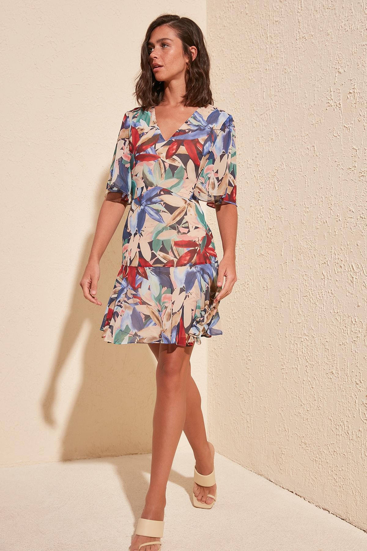 Trendyol Patterned Dress TWOSS20EL1236