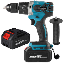 Impact-Drill Cordless 18v-Screwdriver Two-Batteries 13mm