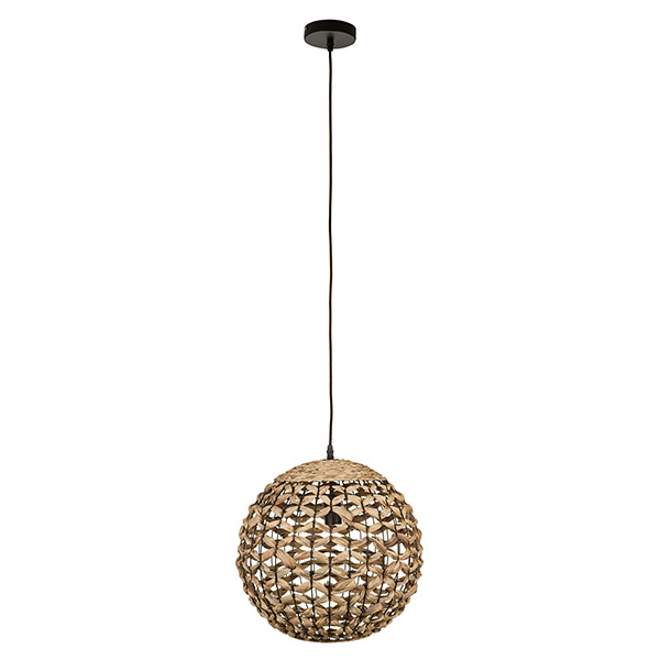 Ceiling Light Wicker (40 X 40 X 37 Cm)
