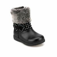 Girls Boots Shoes Spring Autumn Black PU Children's Fashion Kids Warm Winter Rubber Waterproof Snow Rain Baby Water Polaris