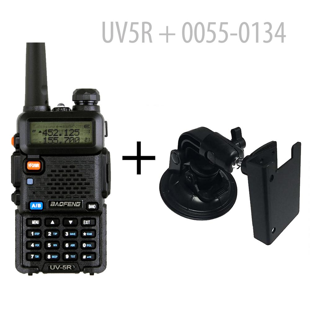 BAOFENG UV-5R Dual Band 4W HAM RADIO With Earpiece + Car Mount (126361)