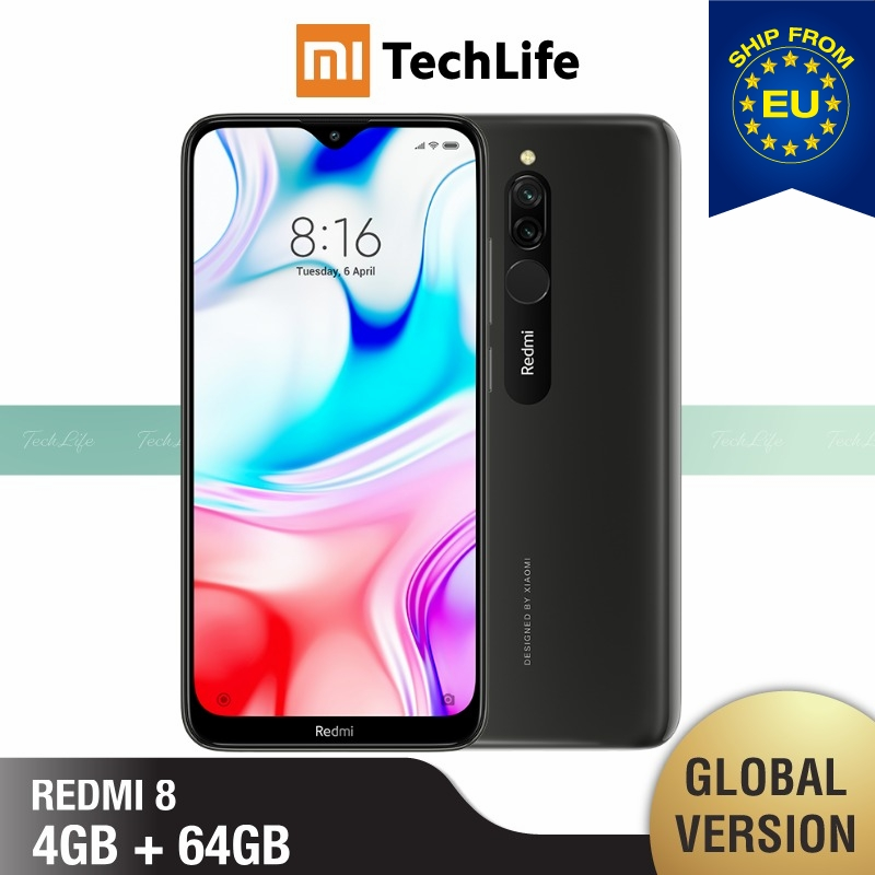 Global Version Xiaomi Redmi 8 64GB ROM 4GB RAM (Brand New / Sealed) Redmi 8, Redmi8 Smartphone Mobile