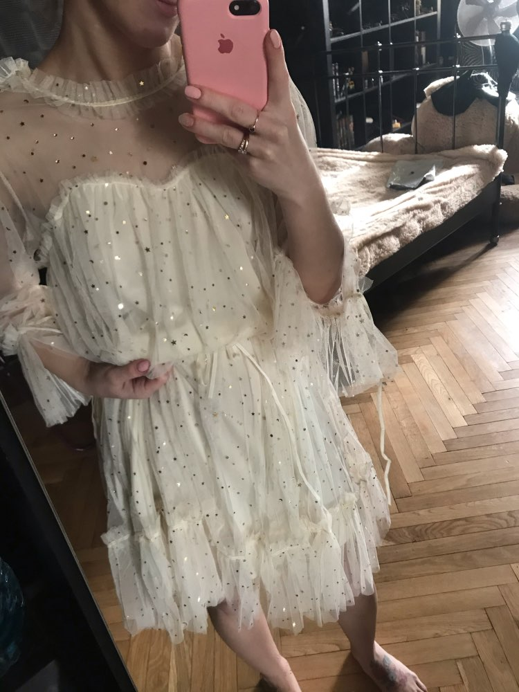 RUGOD New shiny women dress sequined transparent loose a line mesh patchwork elegant solid summer dress korean style kimono reviews №2 48475