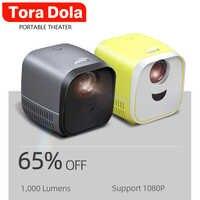 Mini projetor led l1, 1000 lumens 480*320 p projetor portátil, suporte 1080 p para o teatro em casa, bons presentes de natal