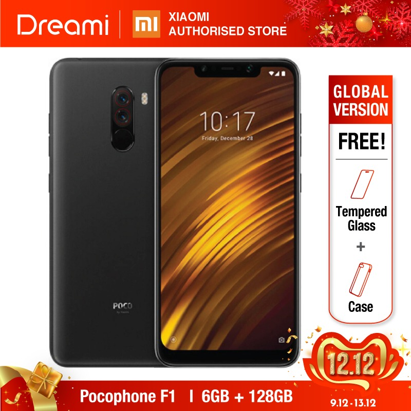 Global Version Xiaomi Pocophone F1 128GB ROM 6GB RAM, EU VERSION (Brand New And Sealed)