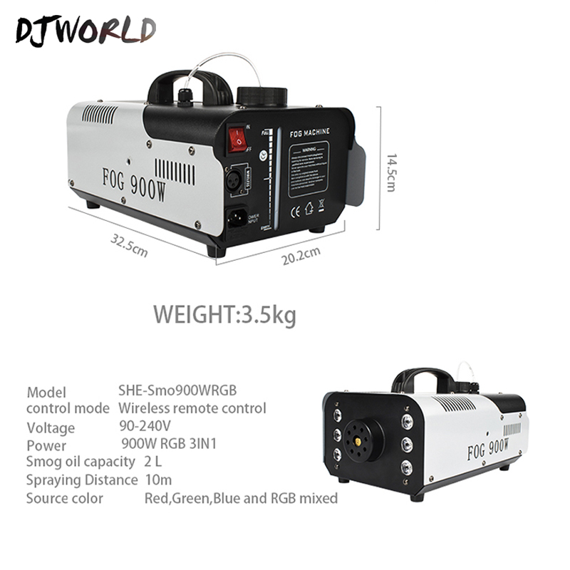 Wire Remote Control 1500W Smoke Machine Stage Fog Machine DMX512 Good For DJ Disco Equipment Dmx Lights