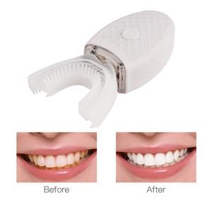 Image 3 - Wireless Electric Toothbrush Automatic Ultrasonic Teeth brush 360 Degrees Nano Silicone U shaped USB Rechargeable Teethbrush P40