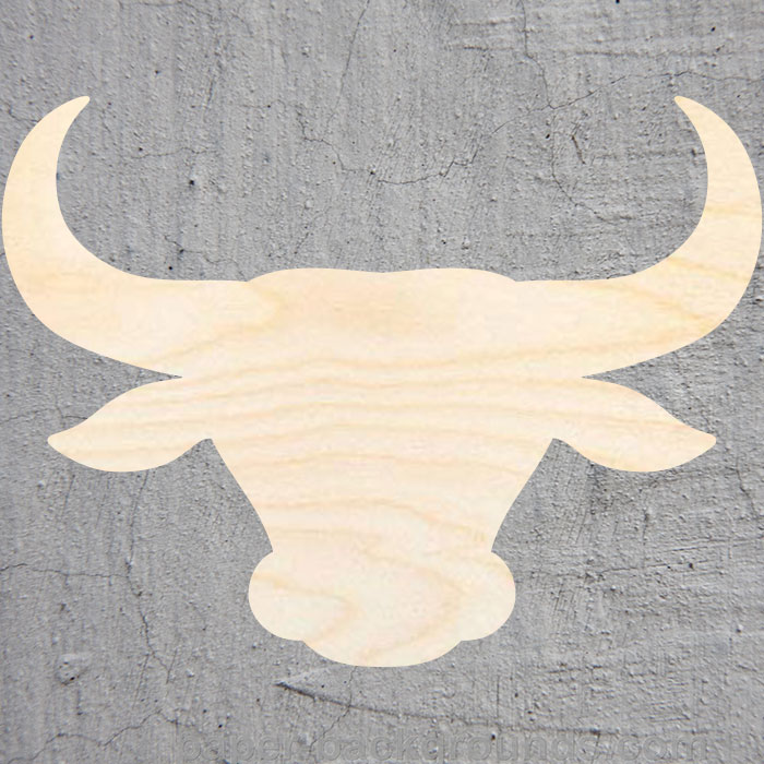Bull Head  Silhouette Laser Cut Out Wood Shape Craft Supply Unfinished Cut Art Projects Craft Decoration Gift Decoupage Ornament