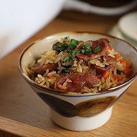一锅腊肠焖饭解决一顿饭的做法图解10