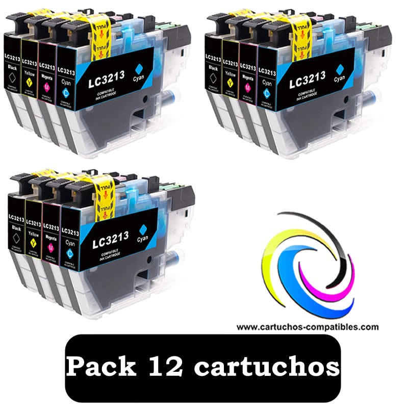 Brother Pack 12 LC-3211 LC-3213 LC3211 LC3213 For J497DW J572DW J772DW J772DNW J774DW J491DW J497DW J890DW J895DW