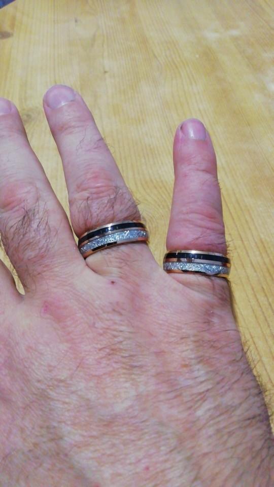 Bague météorite or et fibres de carbone homme